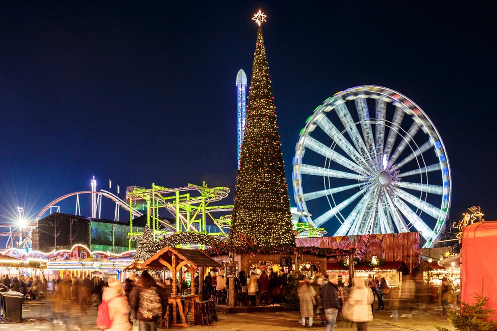 Winter, Snow, Theme park